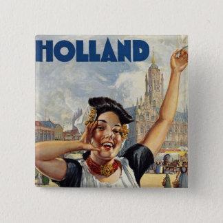 Holland 15 Cm Square Badge
