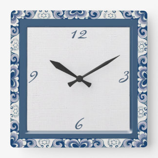 Holland Blue Country Clock