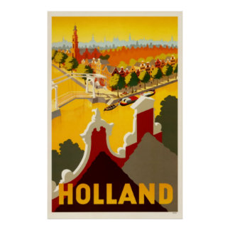 Holland Canal | Vintage Travel Poster Poster