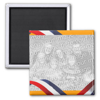 Holland Dutch Red White Blue Orange Fridge Magnet
