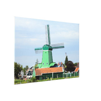 Holland: Dutch windmill village 2 Canvas Print