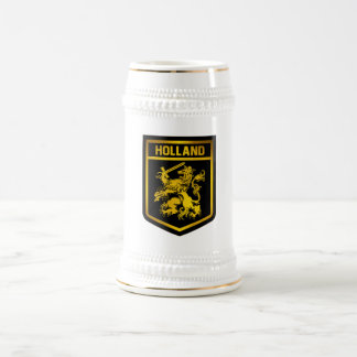 Holland Emblem Beer Stein