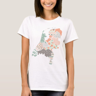 Holland Province Map Geometric Patchwork Style T-Shirt