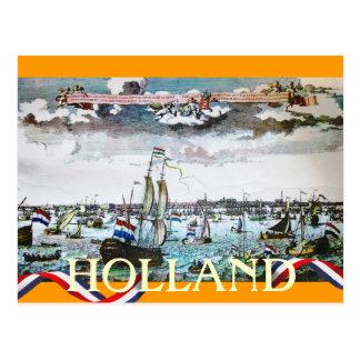 Holland Sea Faring Ships Sailing Postcard