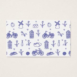 Holland seamless pattern business card