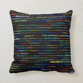 Holland Text Design I Throw Pillow