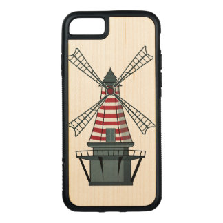 Holland Windmill Carved iPhone 7 Case