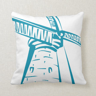 Holland Windmill in Blue Cushion