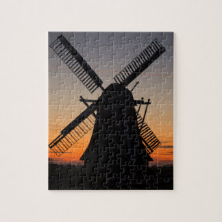Holland Windmill Silhouette Jigsaw Puzzle