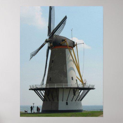 Holland windmill, Vlissingen, The Netherlands Poster