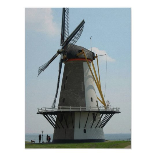 Holland windmill, Vlissingen, The Netherlands Poster