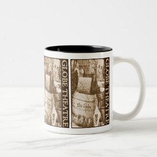 Hollar's Globe Theatre Two-Tone Coffee Mug