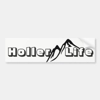 Holler life Mountain Living Bumper Sticker