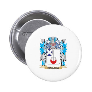 Holliday Coat of Arms - Family Crest Button
