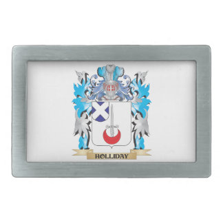 Holliday Coat of Arms - Family Crest Rectangular Belt Buckle