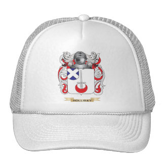 Holliday Coat of Arms (Family Crest) Hats