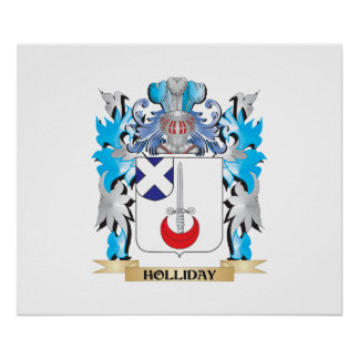 Holliday Coat of Arms - Family Crest Posters