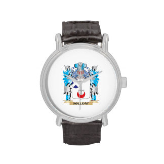 Holliday Coat of Arms - Family Crest Wrist Watches