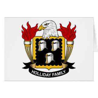 Holliday Family Crest Greeting Cards