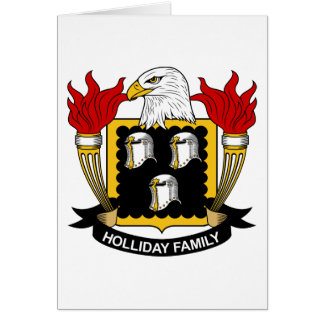Holliday Family Crest Cards