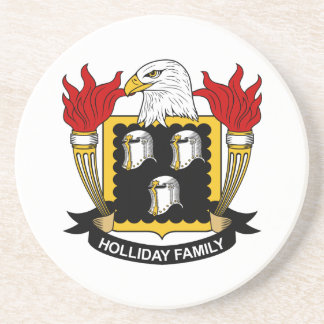 Holliday Family Crest Beverage Coasters