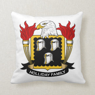 Holliday Family Crest Pillows