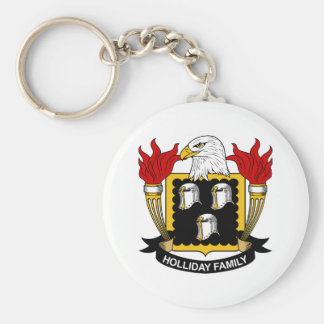 Holliday Family Crest Keychains