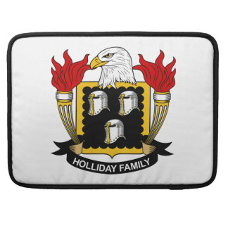 Holliday Family Crest Sleeve For MacBook Pro