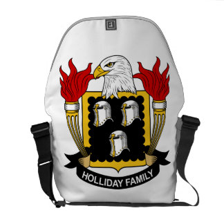 Holliday Family Crest Courier Bag