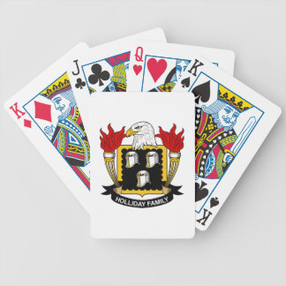 Holliday Family Crest Playing Cards