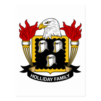 Holliday Family Crest Post Card