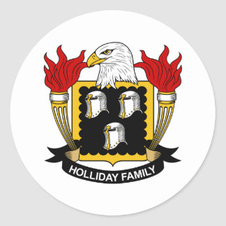 Holliday Family Crest Stickers