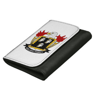 Holliday Family Crest Leather Wallet For Women