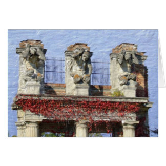 Holliday Park Ruins, Indianapolis, IN Greeting Card