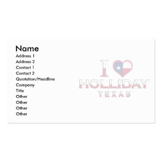 Holliday, Texas Business Card Templates