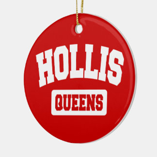 Hollis, Queens, NYC Ceramic Ornament