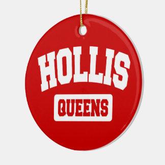 Hollis, Queens, NYC Round Ceramic Decoration