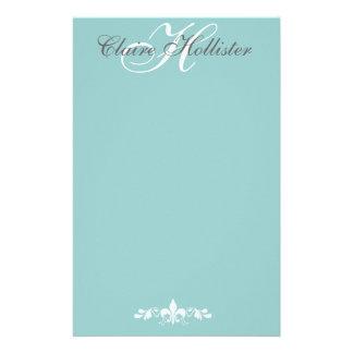 Hollister Monogram  Pale Blue Stationery Paper