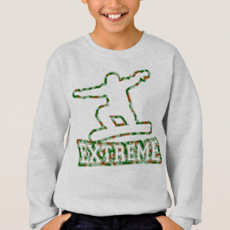 HOLLOW EXTREME SNOWBOARDER IN GREN BROWN CAMO SWEATSHIRT