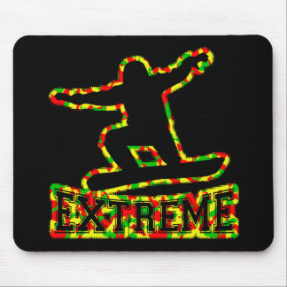 HOLLOW EXTREME SNOWBOARDER IN RGY CAMO MOUSE PAD
