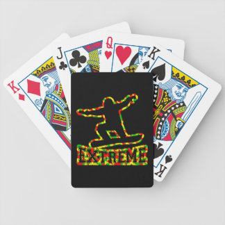 HOLLOW EXTREME SNOWBOARDER IN RGY CAMO POKER DECK