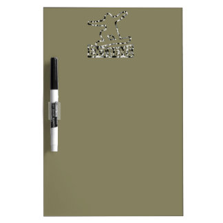 HOLLOW EXTREME SNOWBOARDER IN URBAN CAMO DRY ERASE BOARD