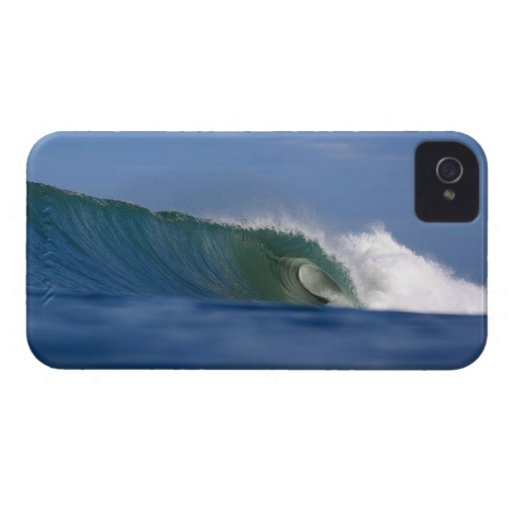 Hollow Surfing Wave in North Sumatra iphone iPhone 4 Cases