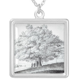 Hollow Tree at Hampstead, 1663 Silver Plated Necklace