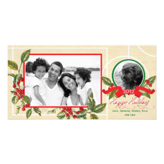 Holly 2 Photo Family and Pets Photo Card