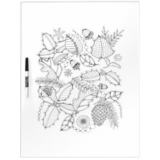 Holly Adult Coloring Dry Erase Board