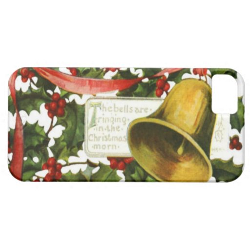 Holly and bells Christmas greeting iPhone 5 Cover