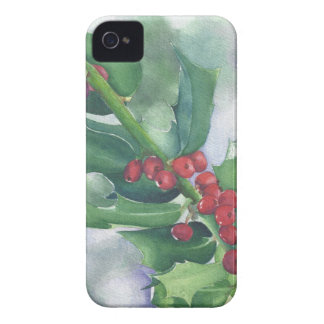 Holly and Berries Case-Mate iPhone 4 Cases