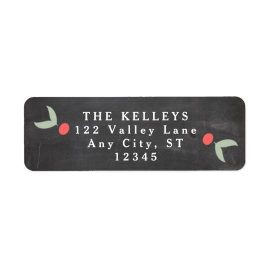 Holly and Berries Holiday Address Return Address Label