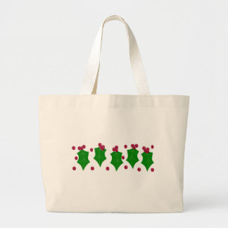 Holly and Berries Large Tote Bag